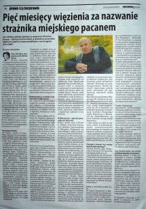 Pięć miesięcy więzienia, Warszawska Gazeta Nr 25, 20-26.06.2014