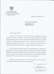 Rekomendacja dla ułaskawienia Pana Dariusza Komorowskiego